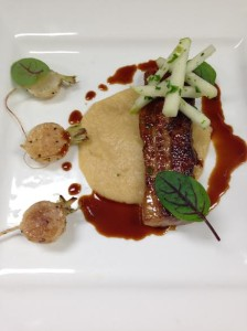 Pork Belly, Turnips, Apple and Honey Laquer