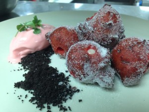 Red Velvet Buneulos with Red Hot Ice Cream