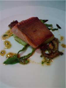 Salmon with Roasted Shiitake Vinaigrette